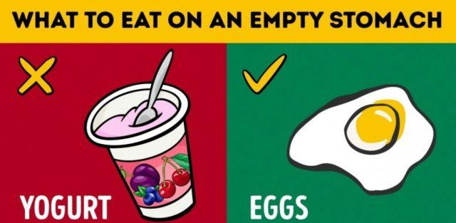 What You Should and Should Not Eat on An Empty Stomach